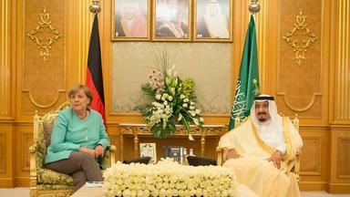 Angela Merkel in Saudi-Arabien.