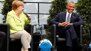Kirchentag: Merkel und Obama