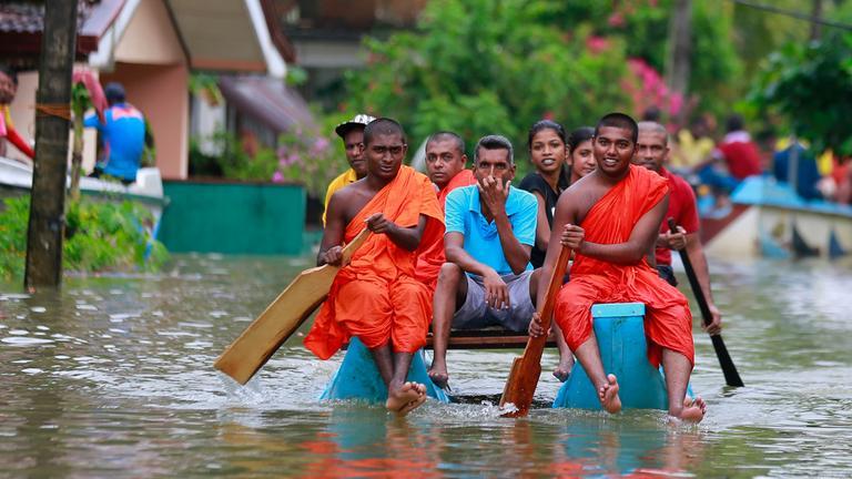 Monsun-Unwetter in Sri Lanka