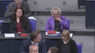 Nachtsitzung im Bundestag.