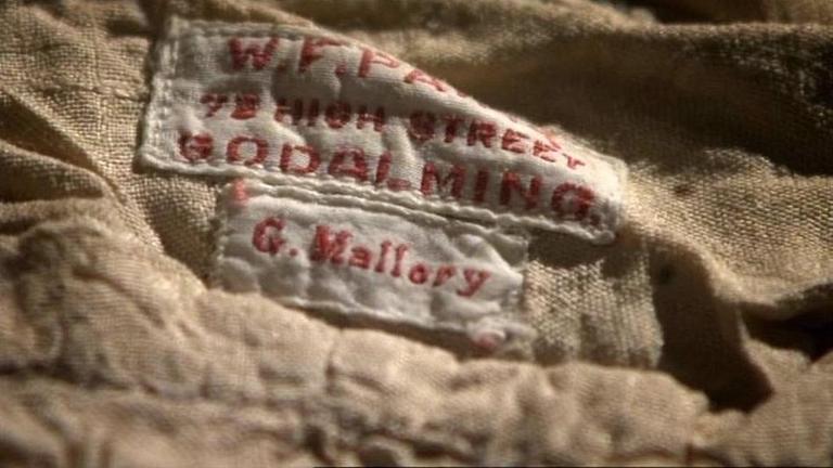 Reenactment: Mallory's nameplate