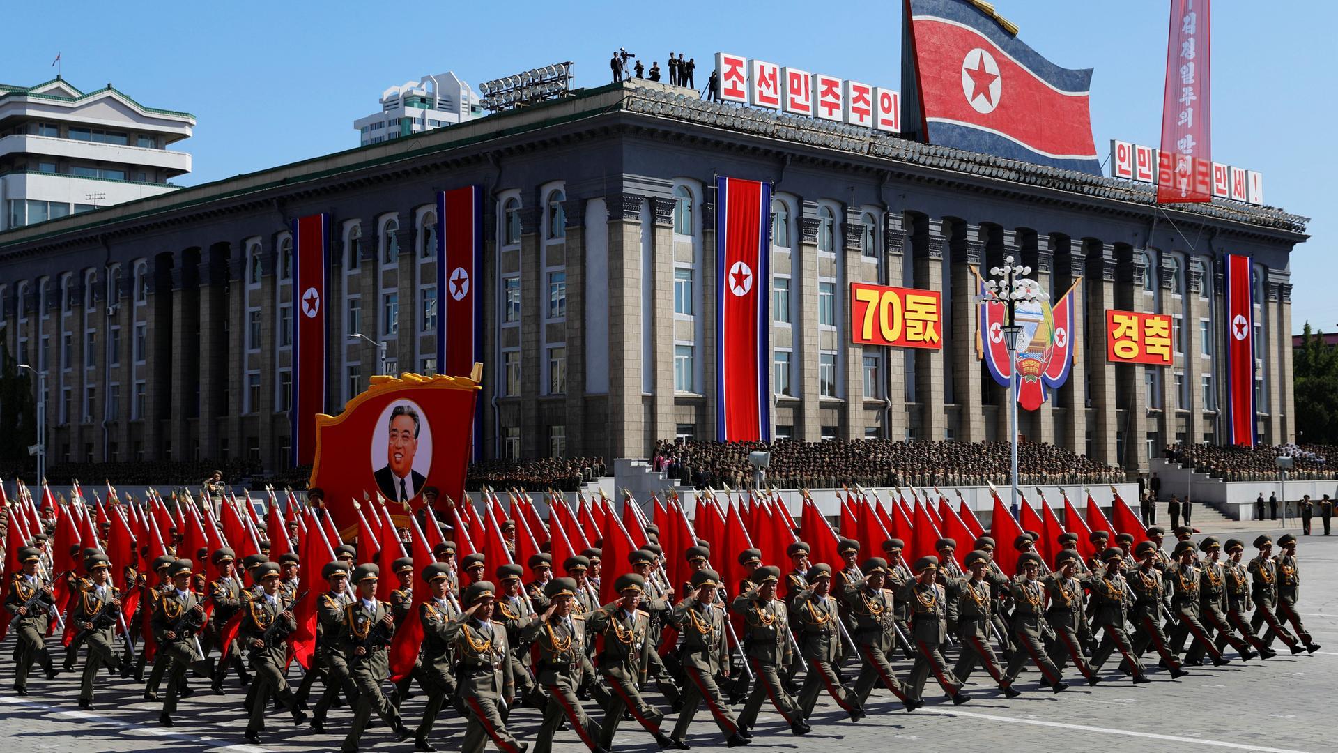 Kuzey Kore 70'inci yılını kutluyor