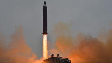 Startende Rakte in Nordkorea