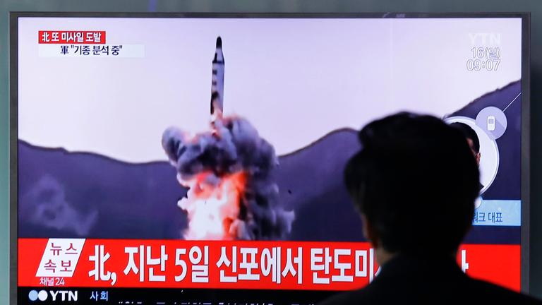 Raketentests in Nordkorea.