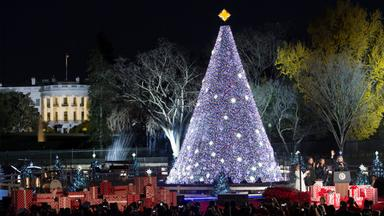 94th annual national christmas tree lighting on the ellipse near