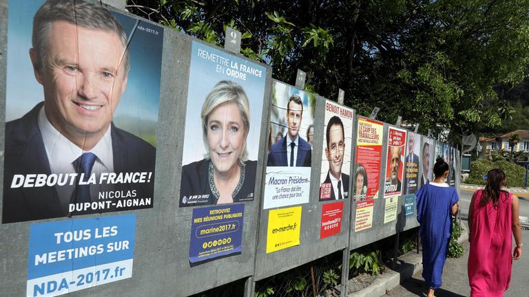 Wahlplakate Frankreich