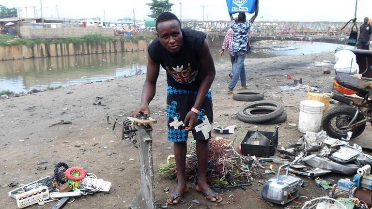 planet e.: Giftiger Export - Elektroschrott samt Schadstoffen landet in Afrika