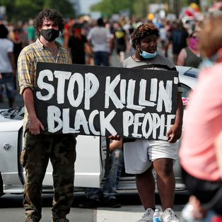 Protests after the death of a black man in Minnesota
