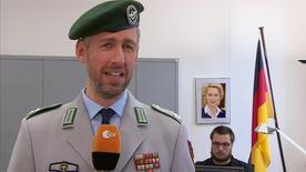 Oberstleutnant Pufpaff (r.) vom Cyber-Kommando