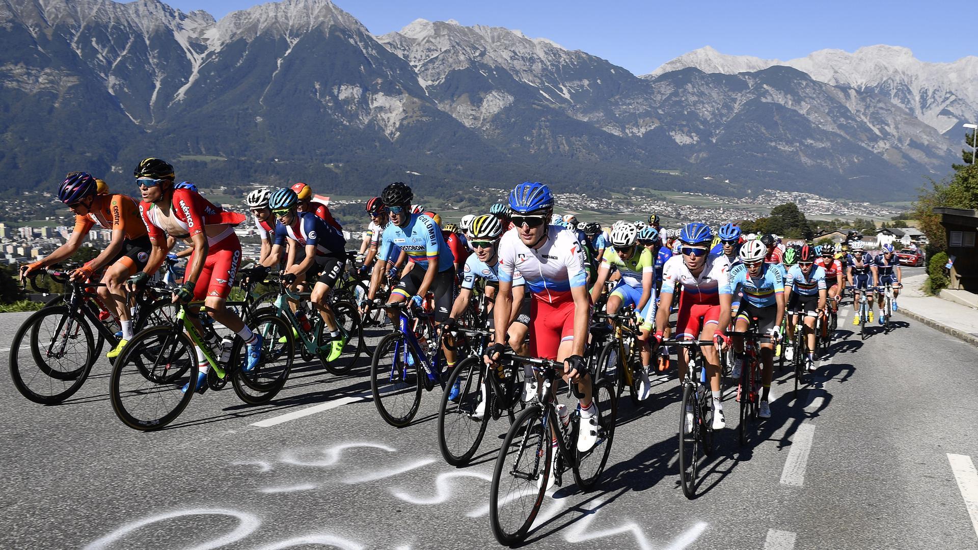 821facc3347c2d Radsport vor spektakulärer Bergkulisse  U23-Rennen bei der WM in Innsbruck
