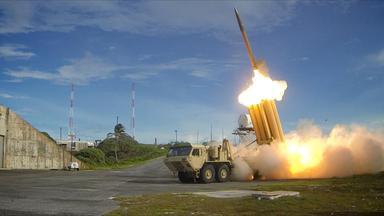 Raketenabwehrsystem der USA bei einem Manöver