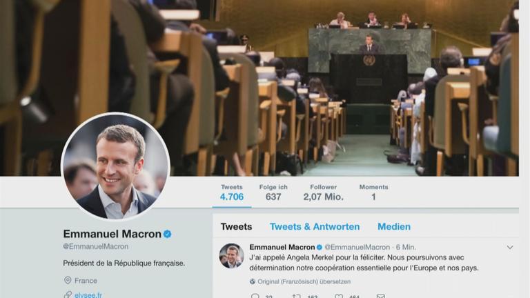Twitter-Seite Emmanuel Macron