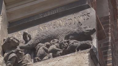 """Relief """"Judensau"""" an der Stadtkirche in Wittenberg"""