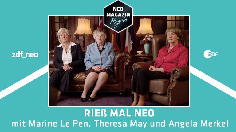 """Larissa Rieß interview Angela Merkel, Marine Le Pen und Theresa May in """"Rieß mal neo"""""""