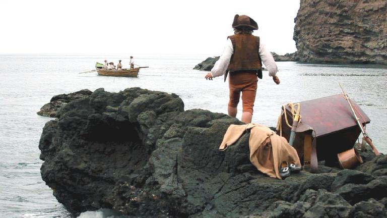 Der englische Seemann Alexander Selkirk (Martin Westcott) auf der Insel Más a Tierra