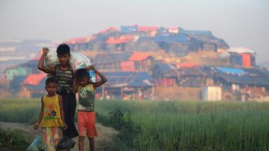 Unter den etwa 600.000 Flüchtlingen sind auch viele Kinder.