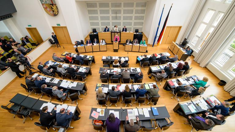 Landtag im Saarland.
