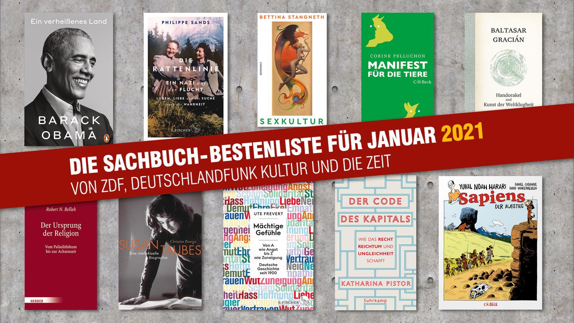 Die Sachbuch-Bestenliste für Januar 2021