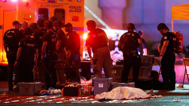 Kurz nach der Schießerei mit mindestens 58 Toten in Las Vegas