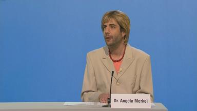 Bundespressekonferenz mit Newton und Merkel