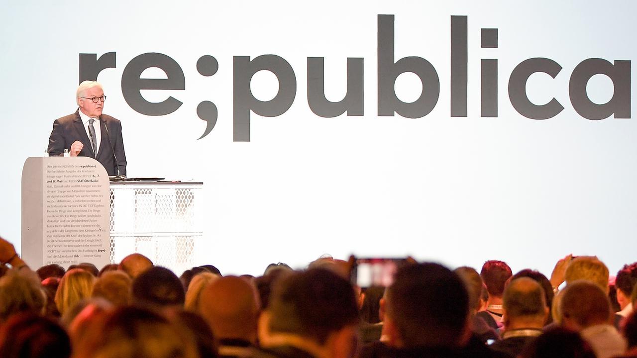 Eröffnung re:publica: Herr Steinmeier hat viele Fragen