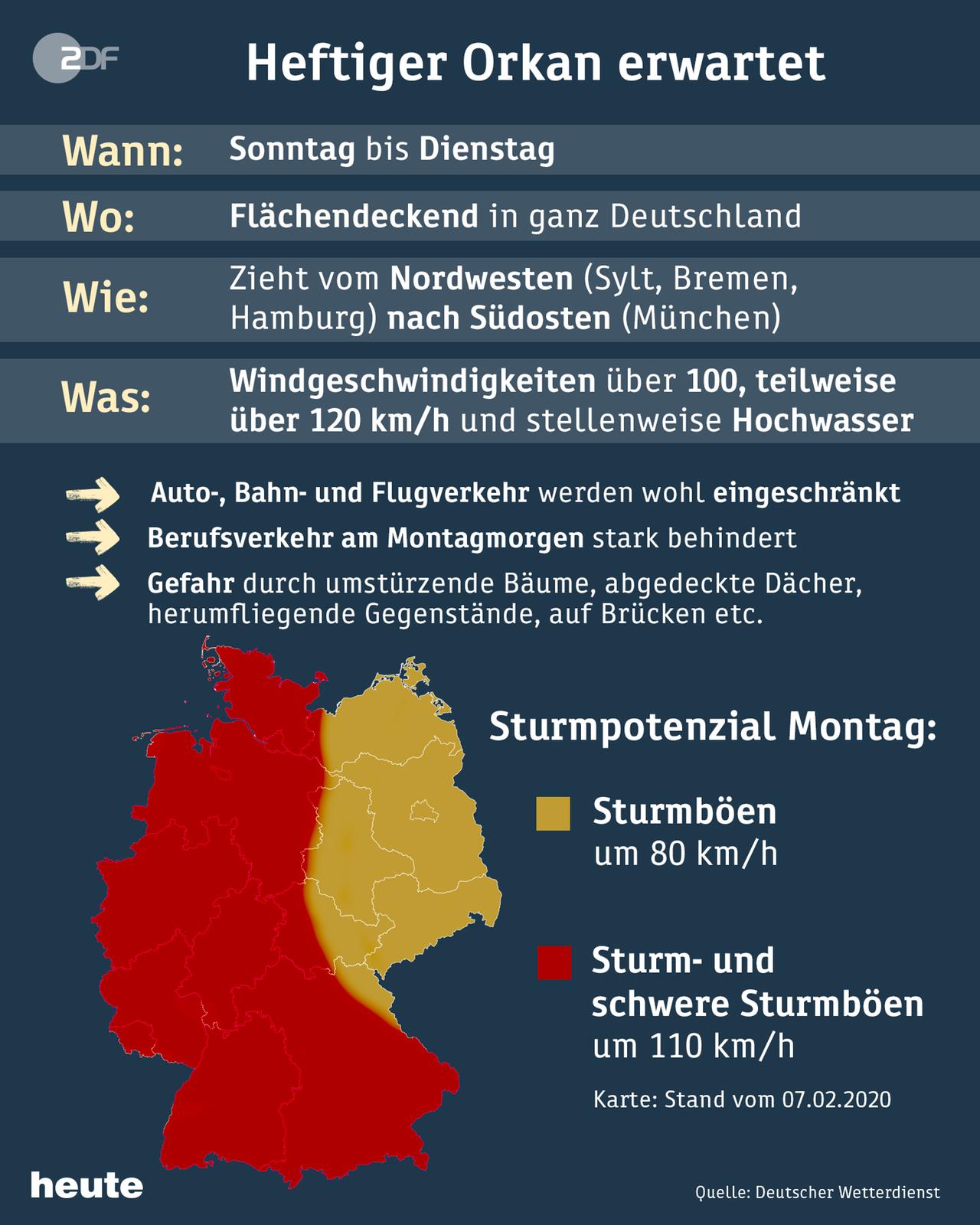 Unwetterwarnung Niedersachsen