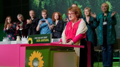 Die Holocaust-Überlebende Hanni Lévy auf dem Grünen-Parteitag.