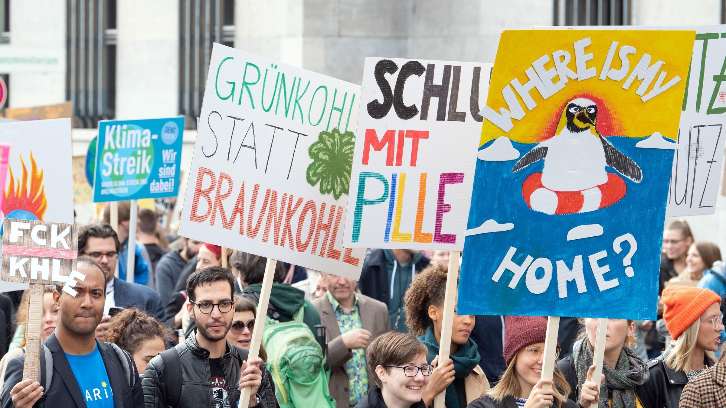 Globaler Klimastreik in Berlin.