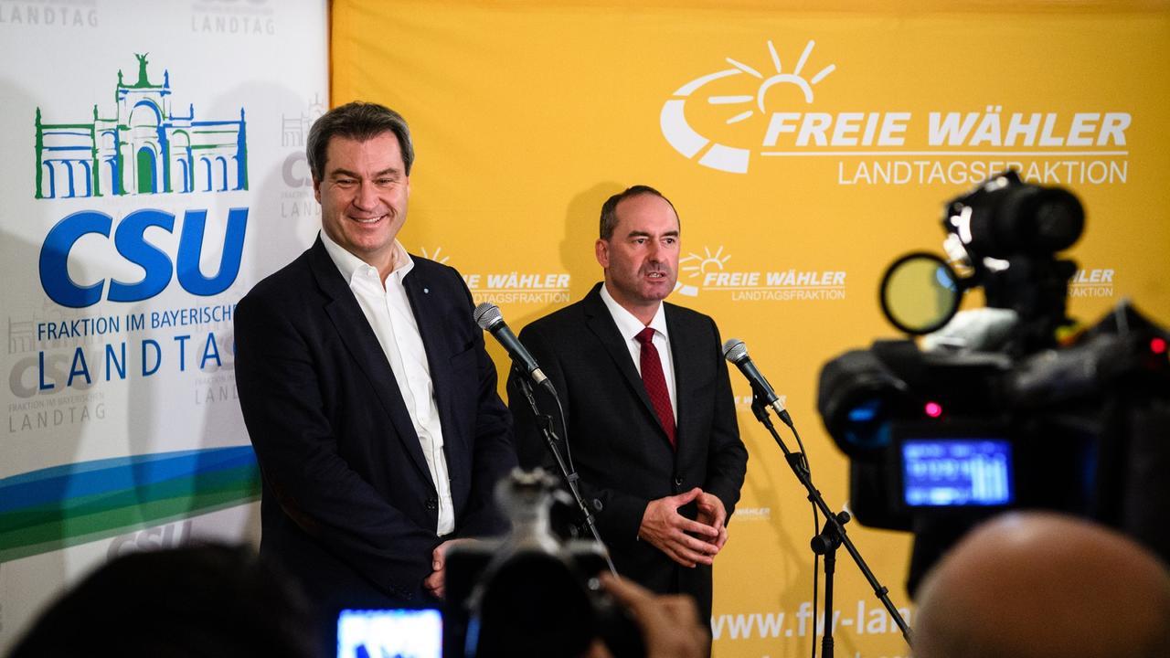 Koalitionsgespräche in Bayern: CSU und Freie Wähler vor Einigung - ZDFmediathek