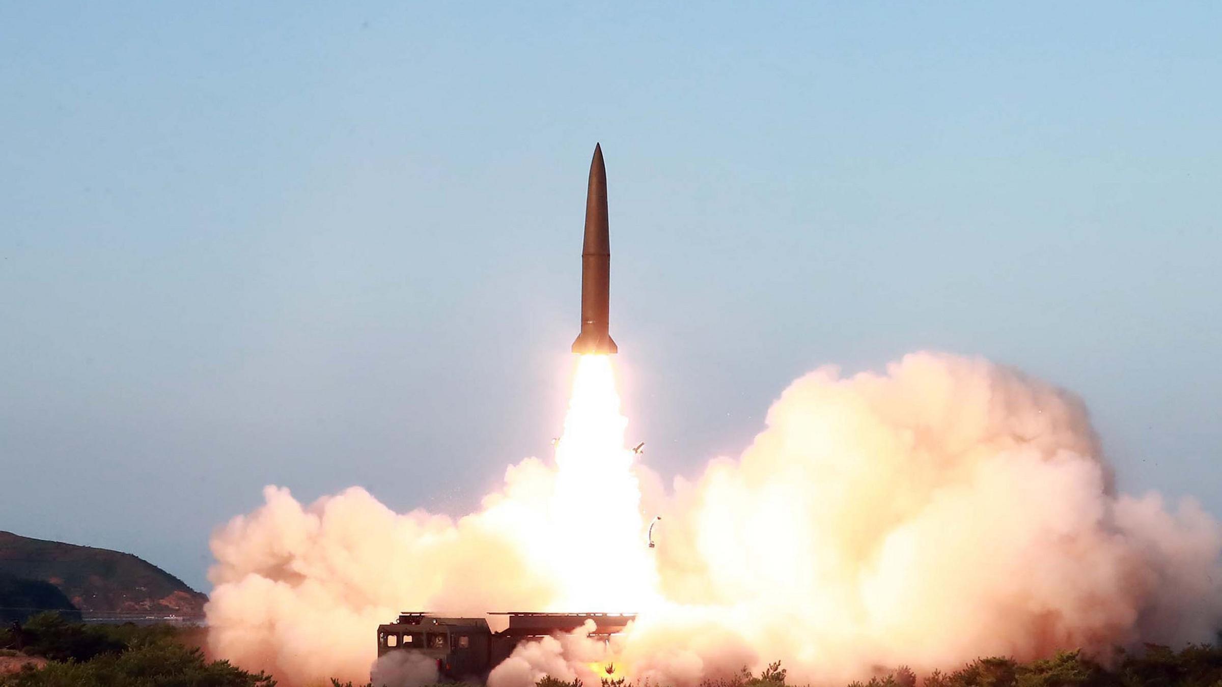 نتيجة بحث الصور عن coreia do norte faz segundo teste de mísseis em uma semana