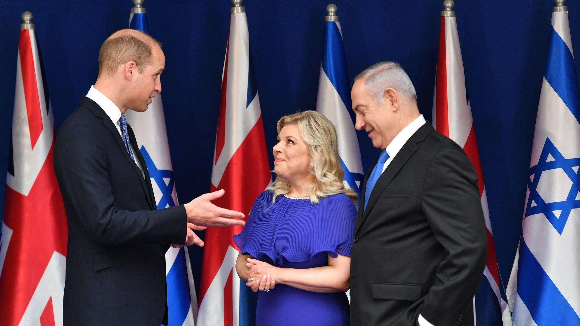 Bei historischer Israel-Reise: Prinz William trifft Netanjahu ...