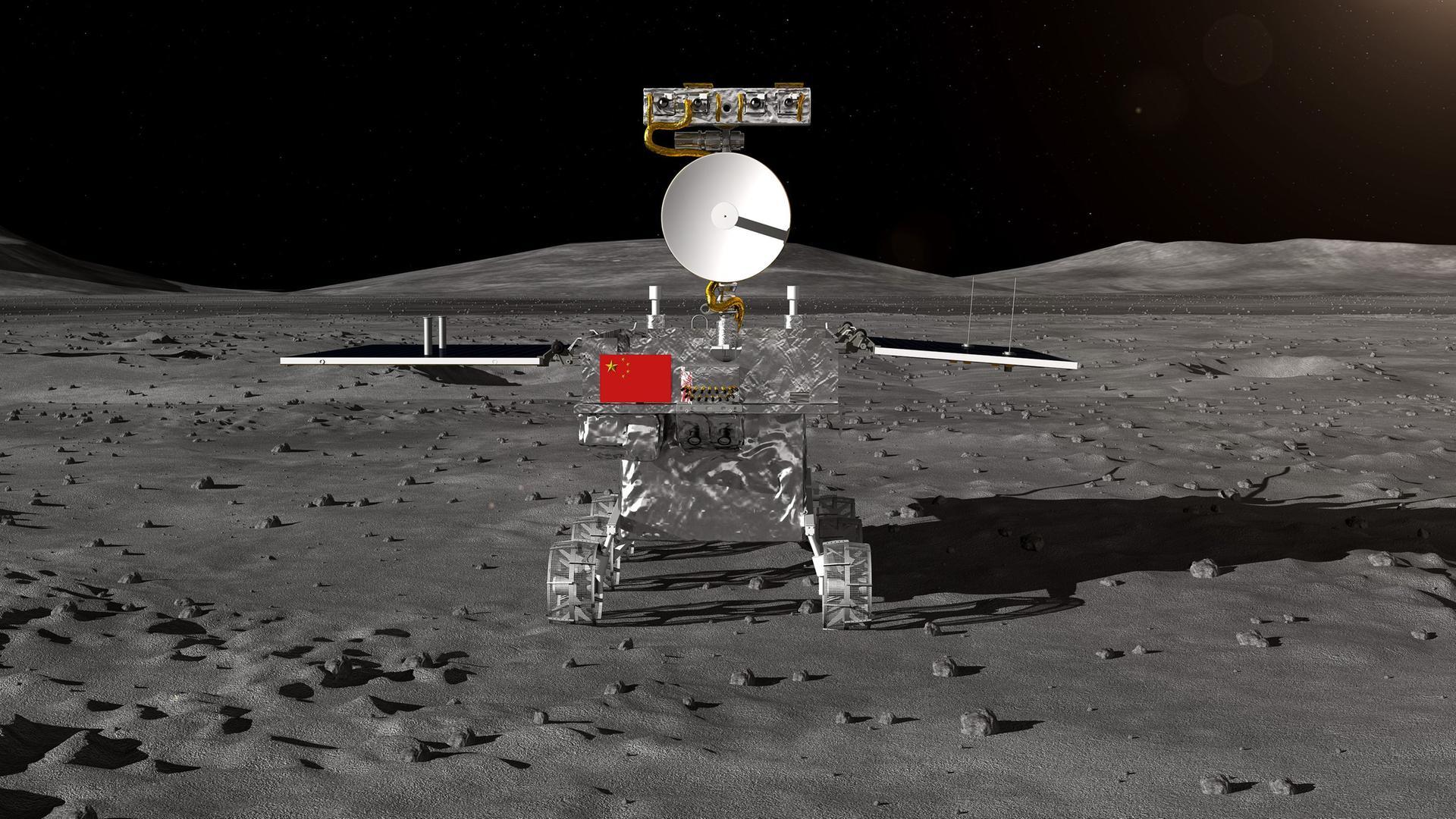 Rover der chinesischen Mondsonde «Chang'e 4».
