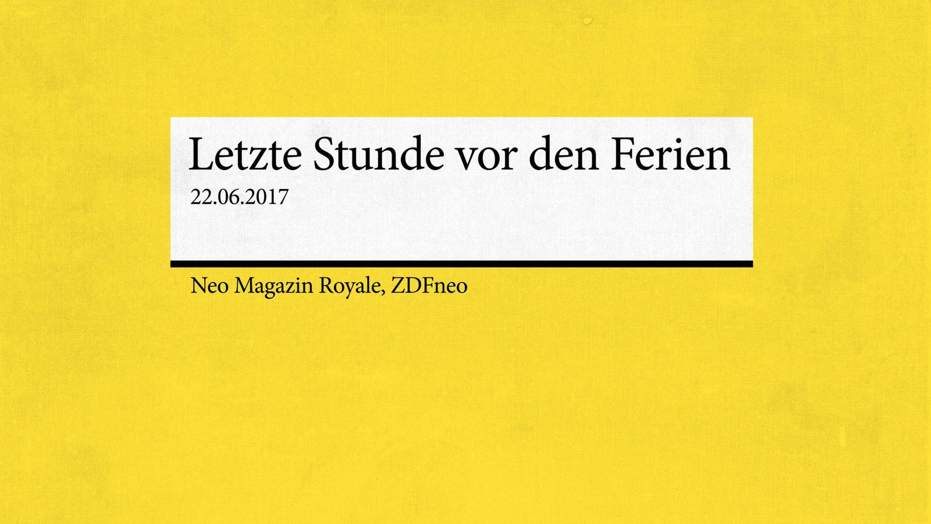 Deutschabi Und Keine Ahnung Neo Magazin Royale Fictionfolge