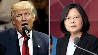 Der designierte Präsident Trump (links), die Taiwanesische Staatschefin Tsai (rechts) (Montage)