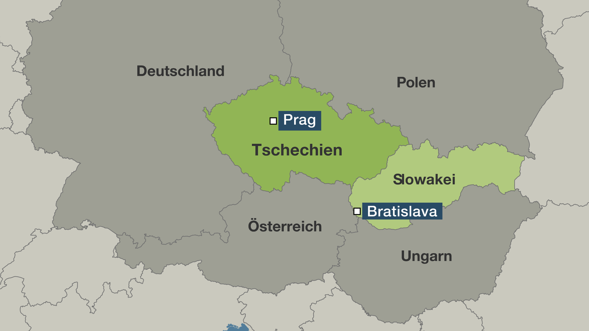 Karte Tschechien.25 Jahre Teilung Tschechoslowakei Aus Eins Wurden Zwei Zdfmediathek