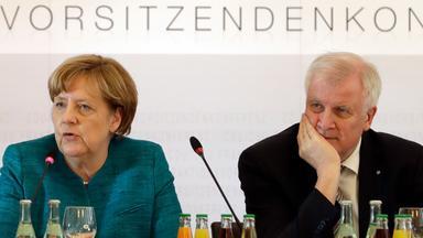 Angela Merkel und Horst Seehofer beraten am 22.05.2017 in München über das Wahlprogramm der Union.