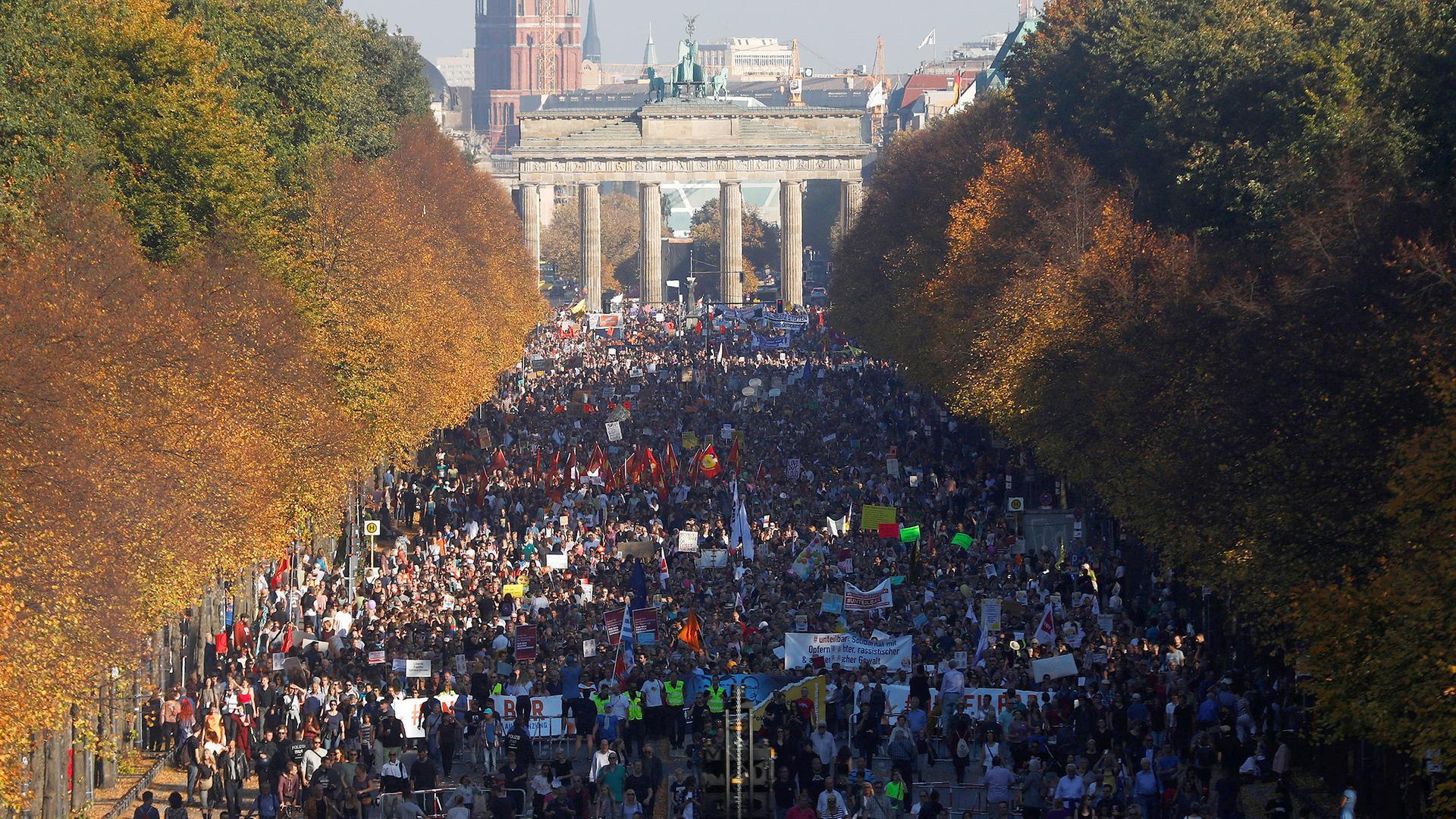Unteilbar: Demonstration in Berlin