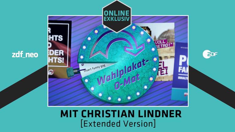 """Der """"Wahlplakat-O-Mat"""" im NEO MAGAZIN ROYALE mit Jan Böhmermann und Christian Lindner"""