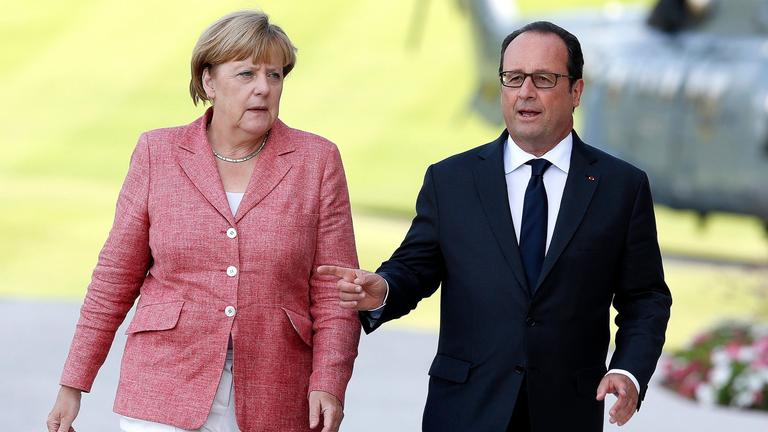 Angela Merkel und Francois Hollande