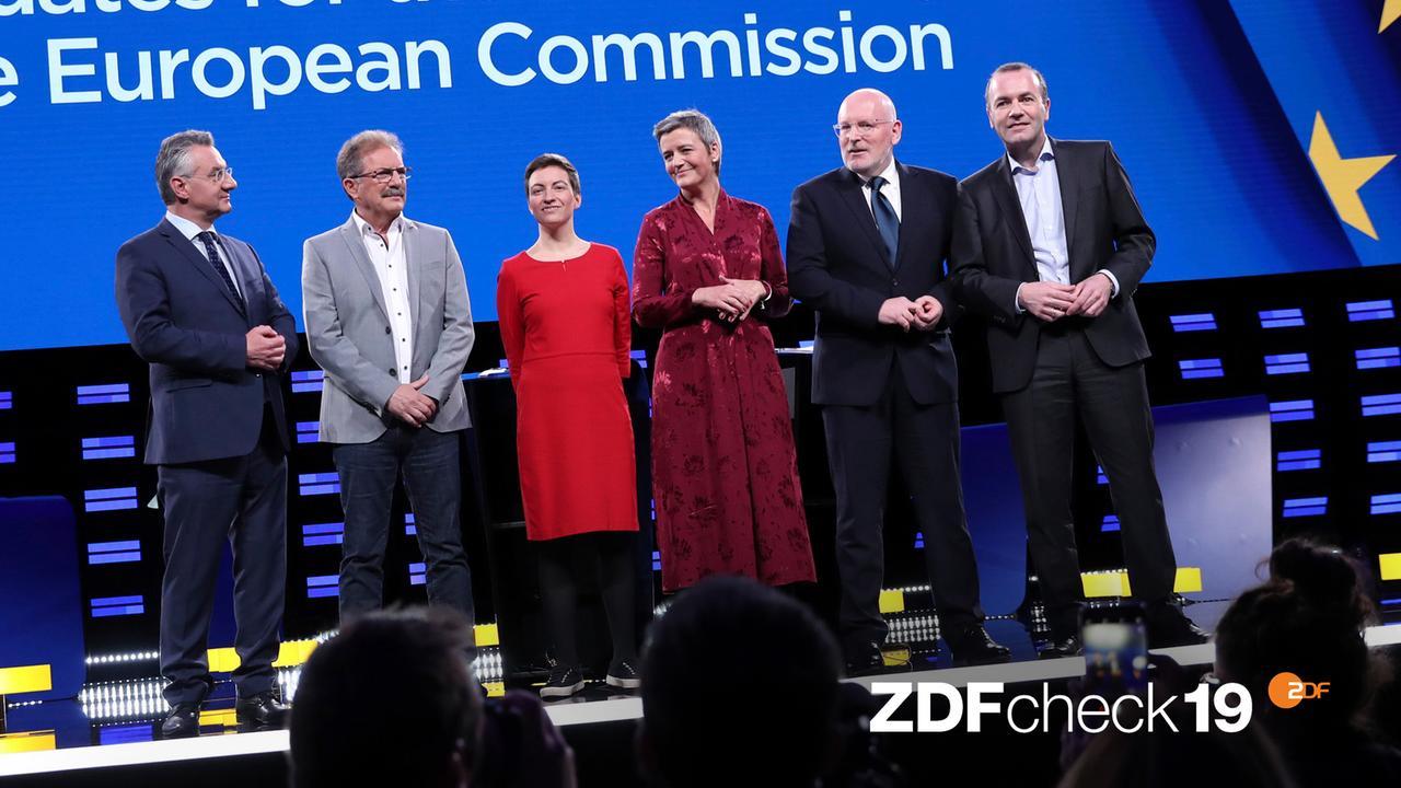 Nach der Europawahl-Debatte - die Aussagen der Spitzenkandidaten im ZDFcheck