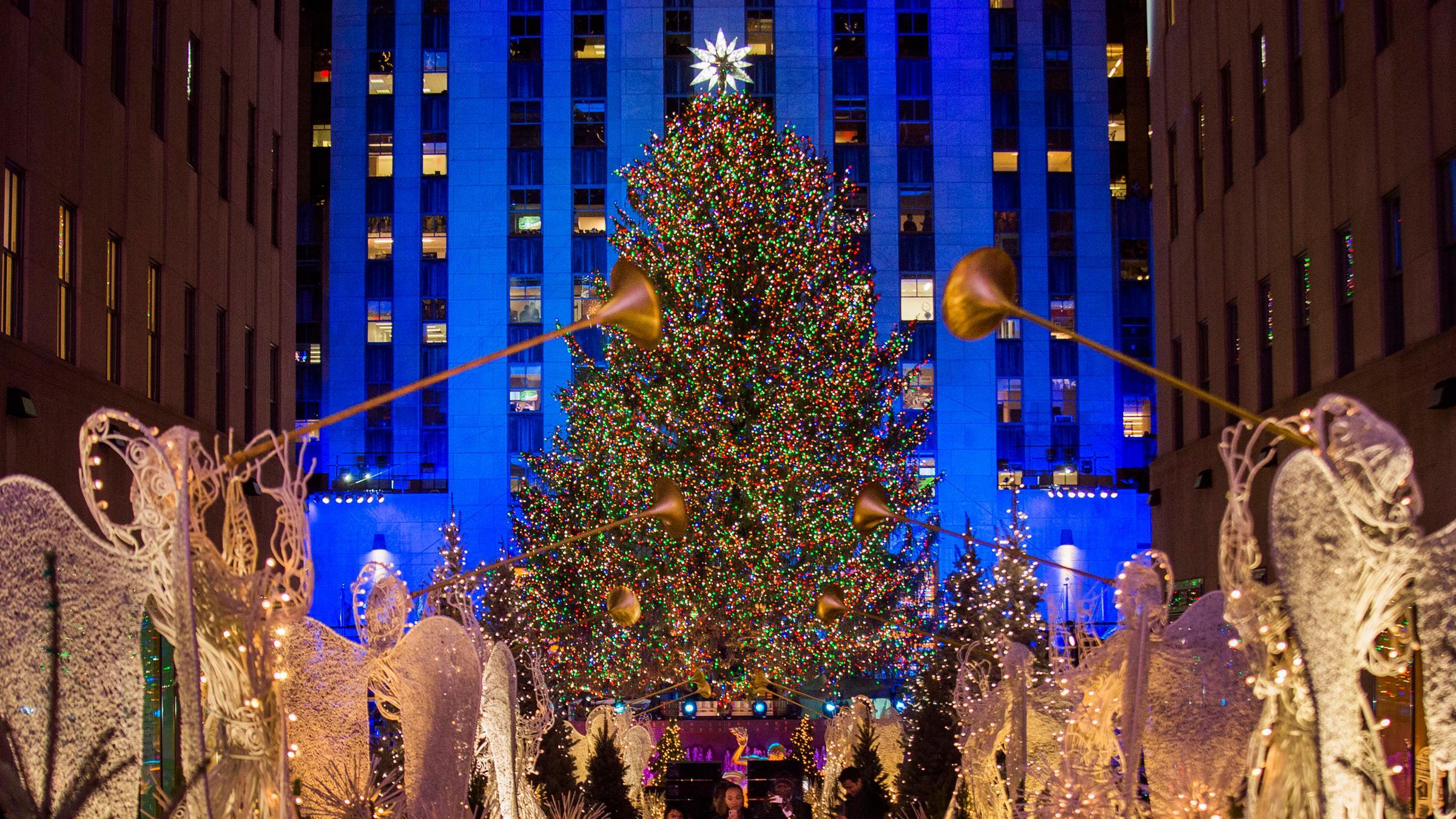 Wann Wird In New York Der Weihnachtsbaum Aufgestellt.Rockefeller Center In New York Weihnachtssaison Wird Eingeläutet