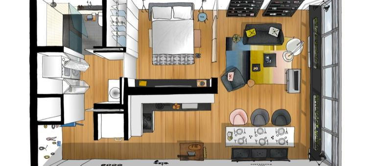 Wohnen Auf Kleinem Raum wohnen auf kleinem raum architektur conversion hank butitta